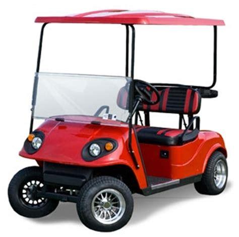 cherry red phoenix ez go 36v electric golf cart electric