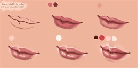 watercolor mouth tutorial lips tutorial photoshop by ayyasap on deviantart