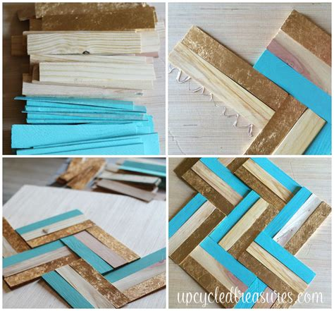 21 diy wood wall artwork pieces for any space and interior diy gilded wood shim wall art mountainmodernlife com