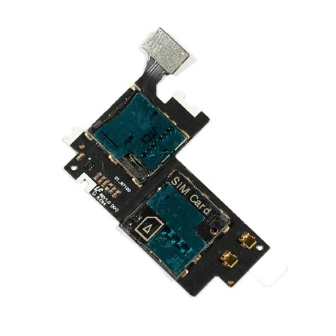 2 Sim Card mmc connector with sim card slot flex cable for samsung