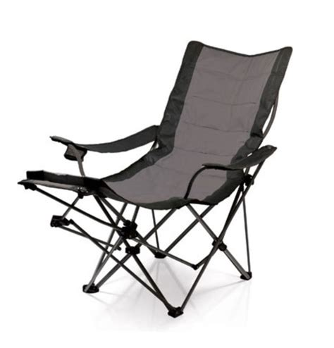 portable folding chair with footrest