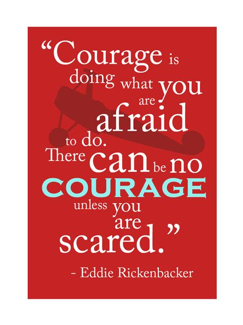 quotes about bravery only courage