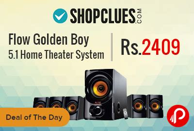 flow golden boy 5 1 home theater system at rs 2409 shopclues