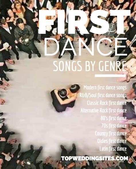 Top 5 First Dance Wedding Songs Listed by Genre   Team