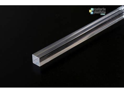 corrimano in plexiglass barre quadre plexiglass trasparente lato 10mm materie