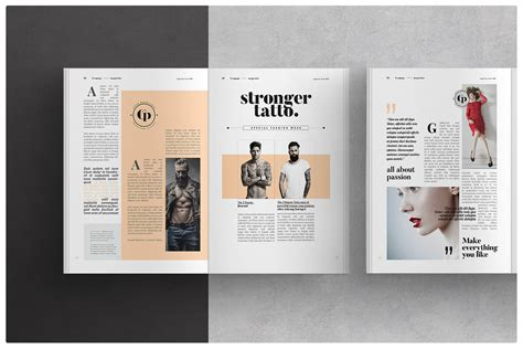 layout design on behance magazine layout on behance