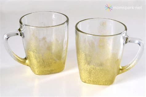 gold coffee mug diy glittery gold coffee mugs craft spark a trendy for