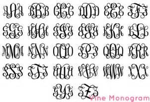 monogram letter monogram fonts alphabet clipart clipart suggest