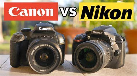Kamera Canon Nikon perbandingan kamera canon vs kamera nikon bagus mana