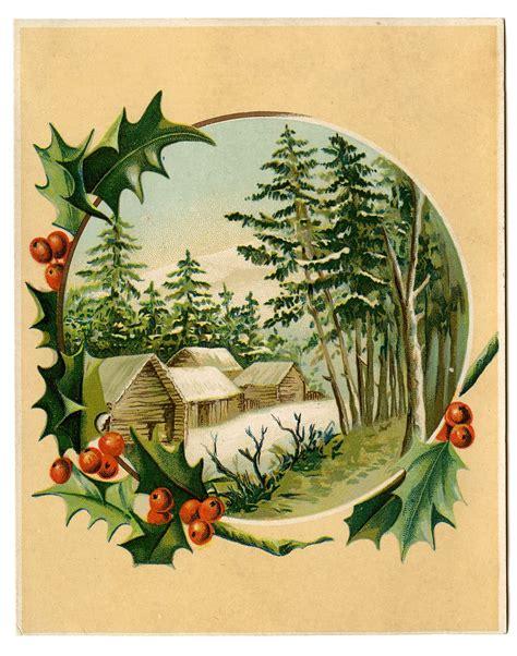 images of vintage christmas scenes vintage christmas clip art winter scene holly frame