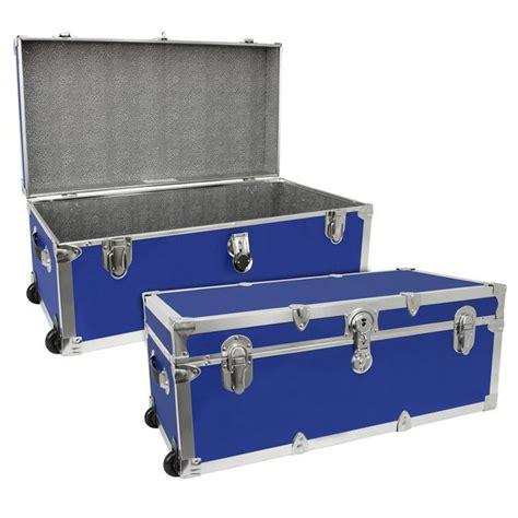 luggage trunks footlocker trunk with wheels by mercury luggage