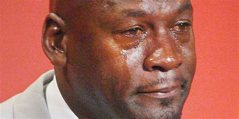 Michael Jordan Crying Meme - look a newspaper actually used the crying jordan meme for