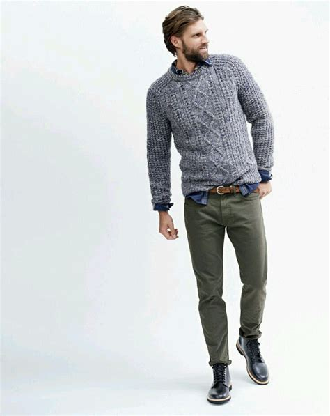 Sweater Pria Model New Casual Green Army Brown Shoulder Patch 447 42 best images about clothes on grey navy blazers and charcoal