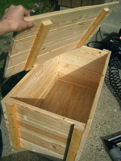 wood storage box ideas  pinterest wooden