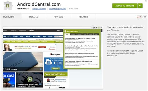 chrome extensions android android central downloads android central