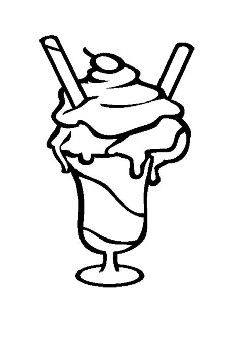 free coloring pages ice cream sundae free printable ice cream coloring pages for kids