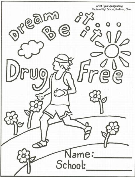 coloring pages for ribbon week anti coloring sheets school counseling