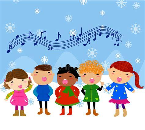 immagini clipart bambini gruppo di bambini che cantano illustrazione vettoriale