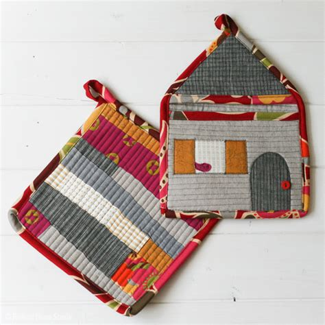 Patchwork Potholder Pattern - patchwork potholder set radiant home studio