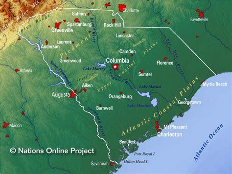 carolina south carolina map reference maps of south carolina usa nations project