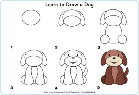 how to draw dogs how to draw a how to