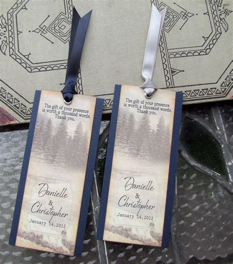 wedding favors bookmarks items similar to wedding favor bookmarks rustic winter