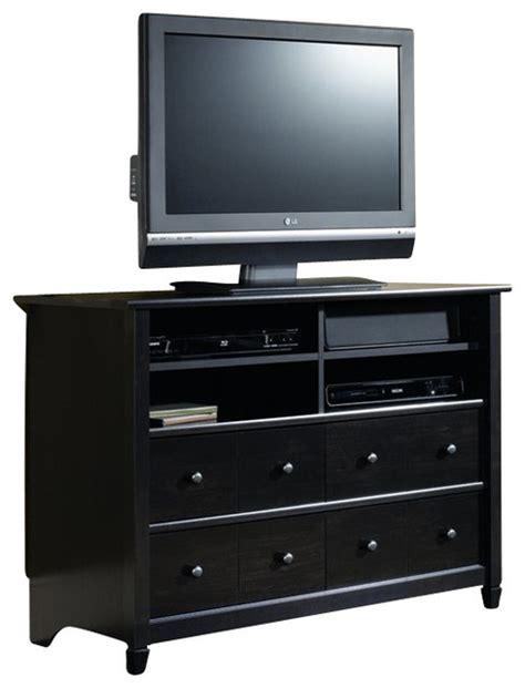 Kitchen Cabinet Tv by Sauder Edge Water Highboy Tv Stand In Estate Black