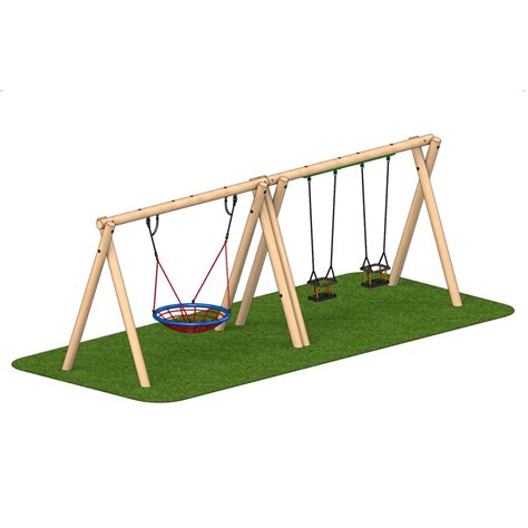 timber swing seat timber swing 2 cradle seat 1 group seat playscape