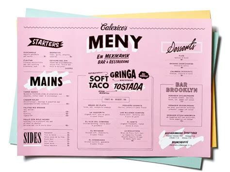best menu 15 best graphic design menu images creative restaurant