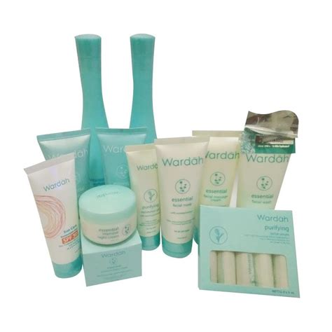 Harga Krim Malam Wardah Acne Series wardah paket basic series for normal to skin elevenia