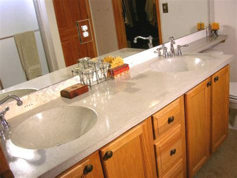 Bathroom Countertop Ideas How To Build A Concrete Bathroom Countertop How Tos Diy