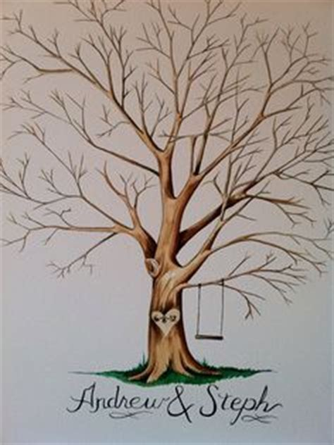 guestbook tree template wedding diy fingerprint tree template to print