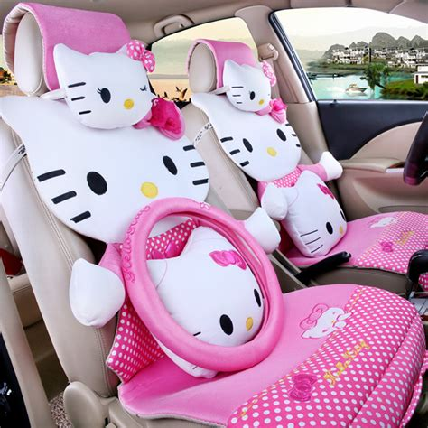 1 Set Cover Hello Pink for summer pink polka dot hello car seat covers sets