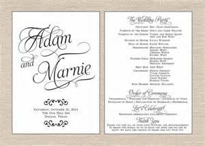 Wedding Programs Fans Classic Wedding Program Printable Fan By Primroseandpark