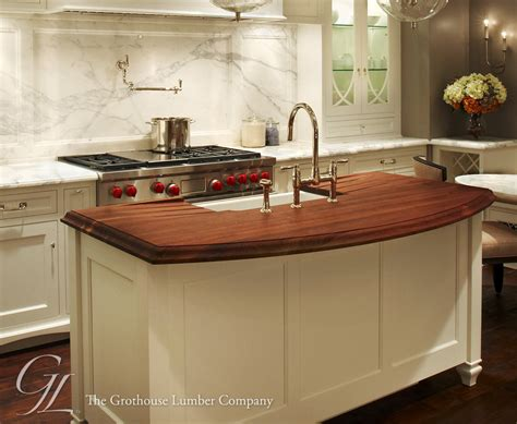 island counter top walnut wood countertop kitchen island in chicago