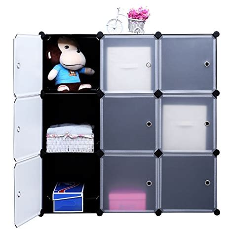 songmics 3 tier diy storage cube organizer closet 9 cube