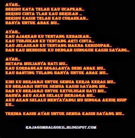 puisi hari ayah nasional ucapan selamat hari ayah idberitaku
