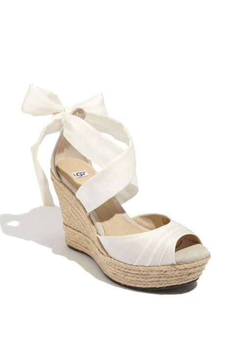 uggs sandals ugg sandals lucianna wrap in white white silk lyst