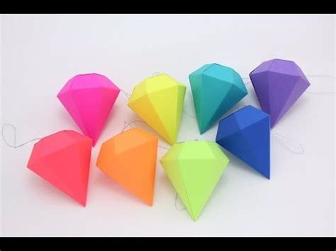 How To Make Diamonds Out Of Paper - best 10 paper ideas on diy origami
