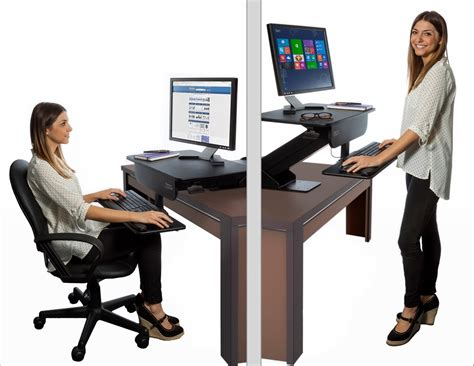 Adjustable Height Gas Spring Easy Lift Standing Desk Sit Adjustable Desk For Standing Or Sitting