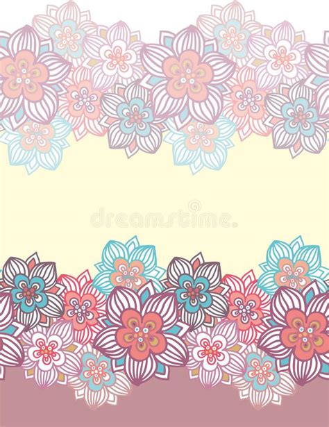 batik pattern border contoured seamless floral border stock photo image 29818378