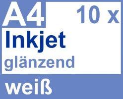 Folie Bedrucken Canon by Faxland De Inkjet Klebefolie 10 X Din A4 Wei 223 Gl 228 Nzend