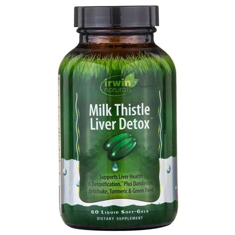 Liquid Liver Detox by Irwin Naturals Milk Thistle Liver Detox 60 Liquid Soft