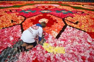 50 Square Meter by Carpet Of Flowers For Brussels Central Square As Country