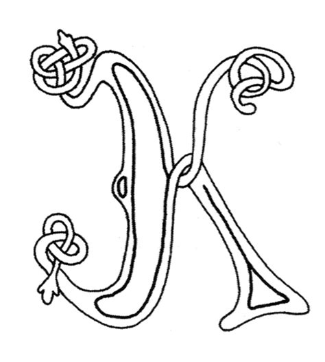 celtic letter coloring page free celtic letters of the alphabet
