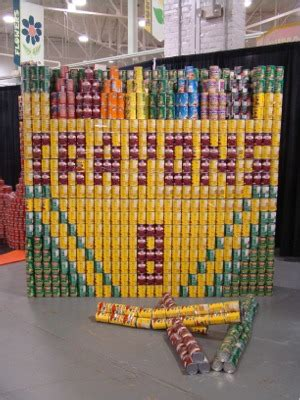 canned food sculpture ideas amazing who can build the best canned food statue