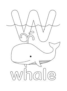 letter w coloring pages preschool alphabet coloring pages mr printables
