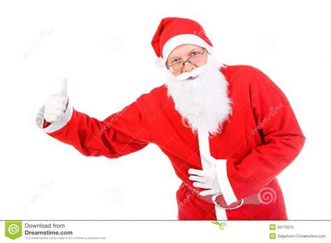 santa claus thumbs up santa claus with thumb up royalty free stock photo image 26770215