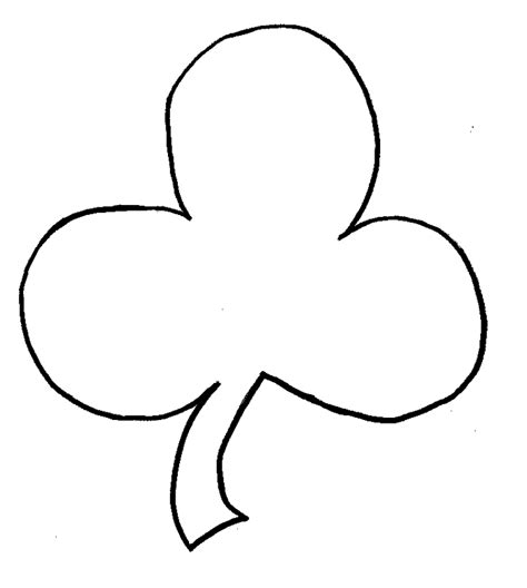 shamrock cut out template pin print out shamrock pattern and on
