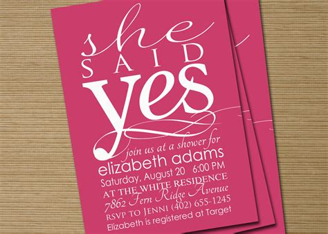 printable bridal shower invitations etsy bridal shower invite printable she said yes by cardsetcetera